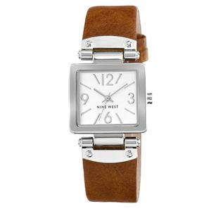 Women's Brown Strap Watch NW-1339SVHY