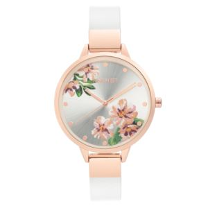 Women's Strap Watch - Rose Gold/White NW-2268FLWT