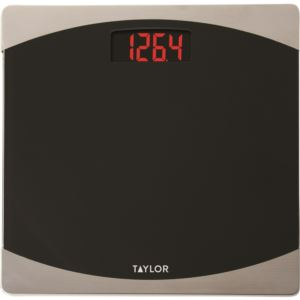 Digital Glass Bathroom Scale with Red LCD Display TAYLOR-7562