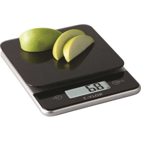 Black Glass Digital Kitchen Scale TAYLOR-3807BK21