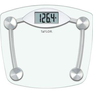 Digital Glass Chrome Bathroom Scale TAYLOR-7506