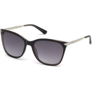 Women's Sunglasses - Shiny Black/Smoke Gradient Lens GU7483-S-05B