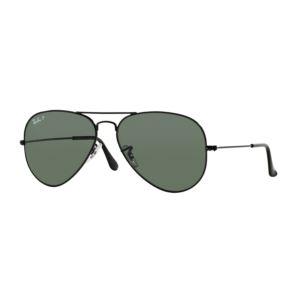 Polarized Aviator Sunglasses - Black/Green 0RB30250025858