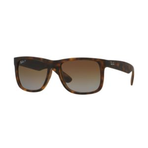 Polarized Justin Classic Sunglasses - Brown/Brown Gradient 0RB4165865T5