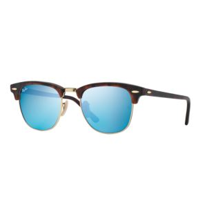 Clubmaster Flash Lens Classic Sunglasses - Blue 0RB301611451751