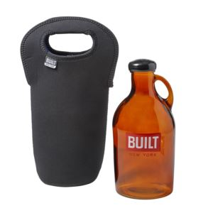 Glass Growler with Insulated Neopreane Tote - Black 5158522
