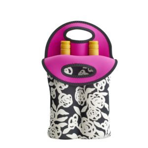 2-Bottle Neoprene Wine/Water Bottle Tote - Garden Rose 5158518