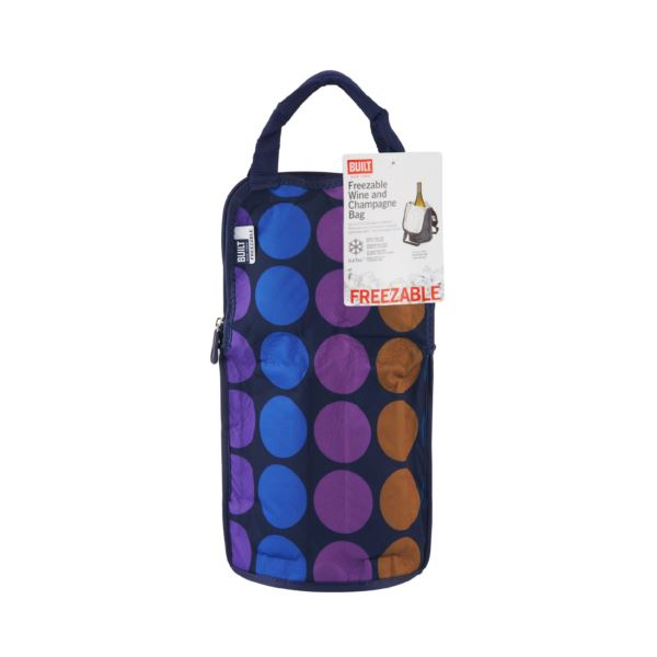NY IceTec Freezable Wine And Champagne Chiller Bag - Plum Dot 5178239