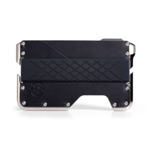 D02 Dapper Wallet - Nickel Plated/Jet Black DGO-D02-JB