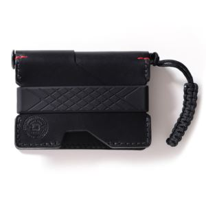 P01 Pioneer Wallet and Dango Pen - Jet Black Italian DGO-PO1-JB