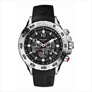 Men's NST Stainless Steel and Black Resin Watch N14536G