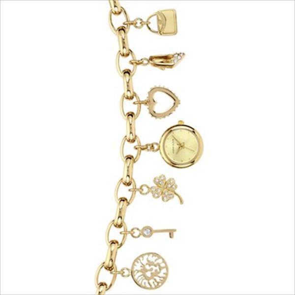 Women's Gold-Tone Charm Bracelet Watch 10-7604CHRM