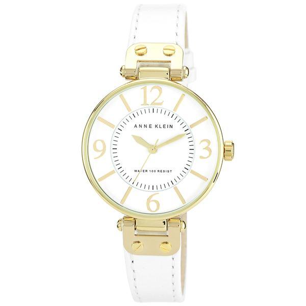 Women's White Leather Strap Watch 10-9168WTWT