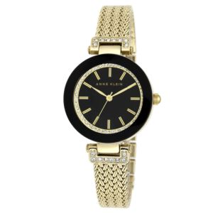 Women's Swarovski Crystal Covered Dial Mesh Bracelet Watch AK-1906BKGB