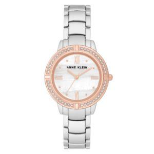 Women's Mother of Pearl Two Tone Crystal Watch AK-2875MPRT