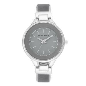 Women's Silvertone and Grey Watch AK-3319GYSV