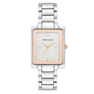 Women's Rose and Silver Rectangle Watch AK-2995SVRT