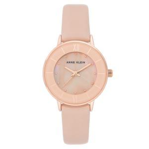Women's Blush Pearl Leather Watch AK-3156RGBH