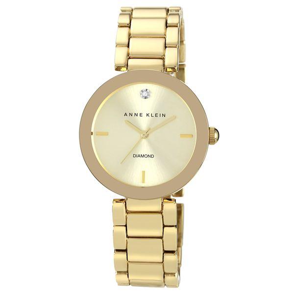 Women's Gold Diamond Dial Bracelet Watch AK-1362CHGB
