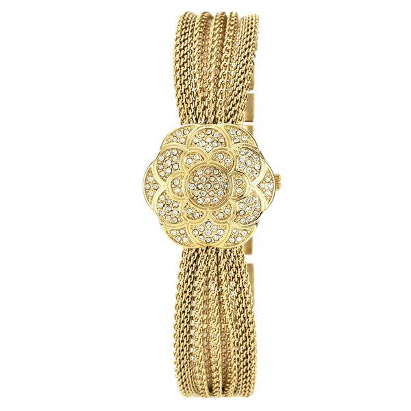 Women's Gold Mesh Bracelet Watch AK-1046CHCV