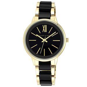 Women's Gold and Black Dress Watch AK-1412BKGB