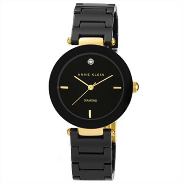 Women's Ceramic Diamond Dial Black Bracelet Watch AK-1018BKBK
