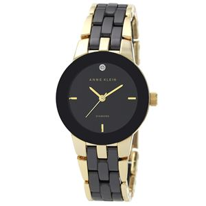 Women's Diamond Dial Black Ceramic Bracelet Watch AK-1610BKGB