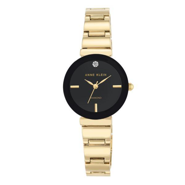 Women's Gold Single Link Watch AK-2434BKGB