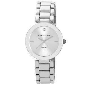 Women's Silver Diamond Dial Bracelet Watch AK-1363SVSV