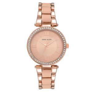 Women's Rose Gold Crystal Bezel Watch AK-3014BHRG