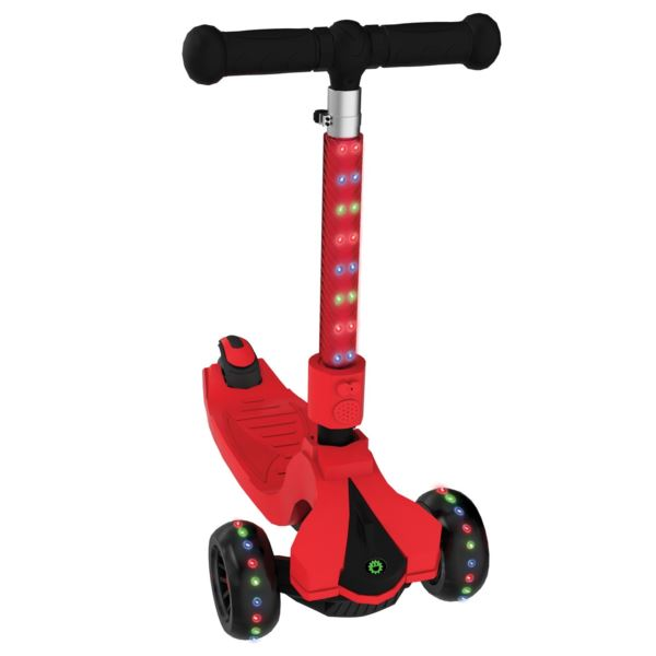 3 wheel kids scooter Saturn with lights JSAT17-RED