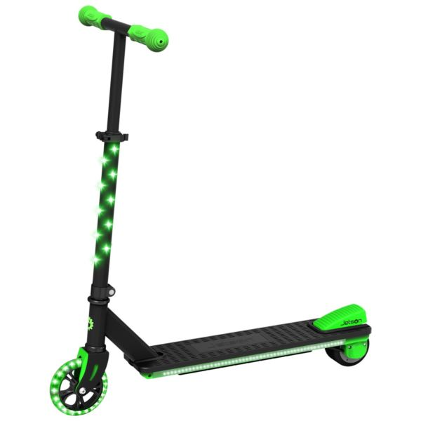 Neo Electric Kick Scooter with LED Lights-Blk/Green JNEO-BLK