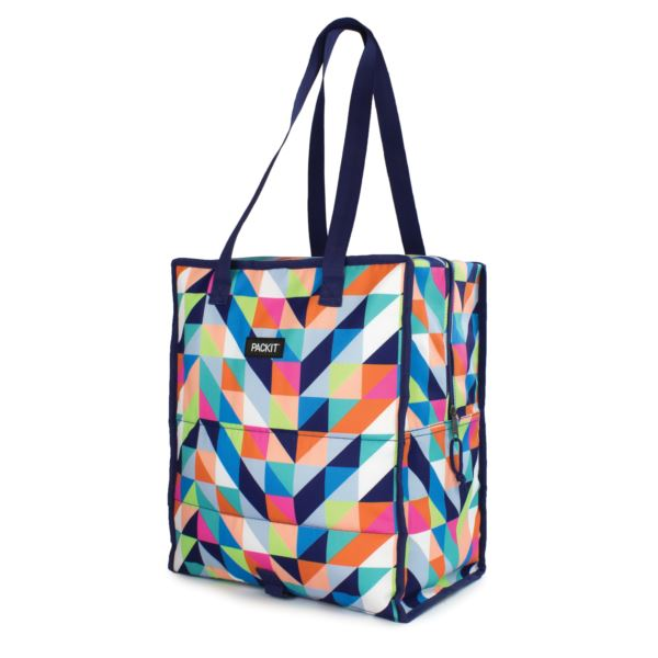 Freezable Grocery Tote Bag, Paradise Breeze PKT-GT-PDB