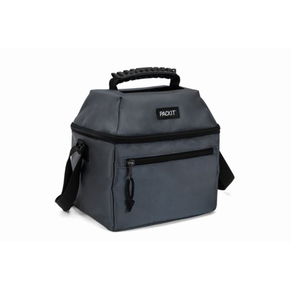 Freezable 9 Can Skylight Cooler, Charcoal PKT-NS-CHA