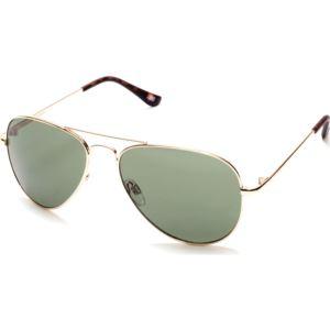 Aviator Metal Sunglasses - Gold/Green SE80515632N