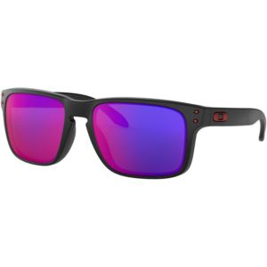 Holbrook Sunglasses - Matte Black/Positive Red Iridium OO9102-36