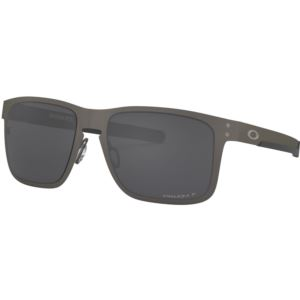 Holbrook Metal Prizm Black Sunglasses - Matte Gunmetal/Prizm Black Polarized OO4123-0655