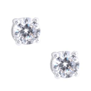 Silver-Tone Cubic Zirconia Stud Earrings 79943602-G03